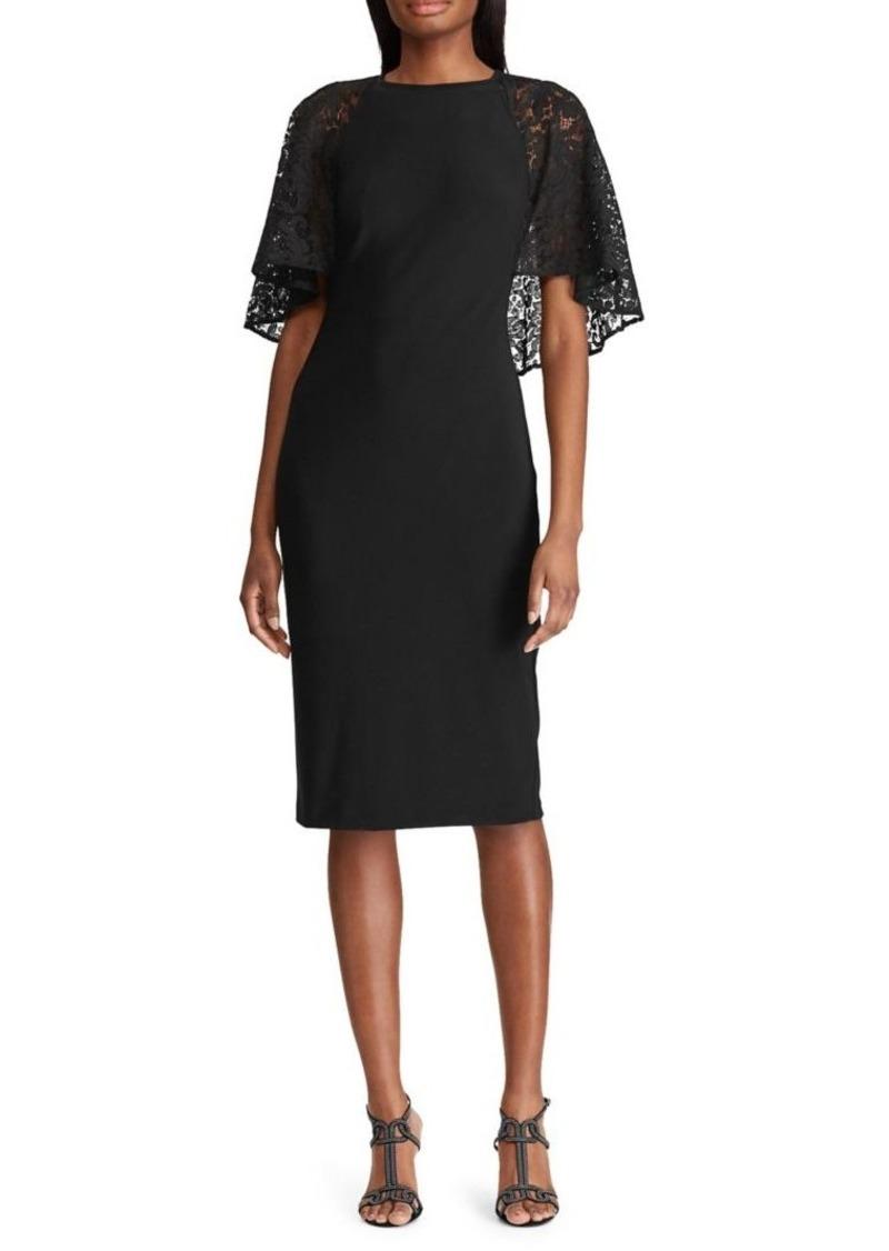 Lauren Ralph Lauren Lace-Cape-Overlay Dress