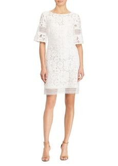 Lauren Ralph Lauren Lace Elbow-Sleeve Dress