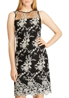 Lauren Ralph Lauren Lace-Embroidery Sheath Dress