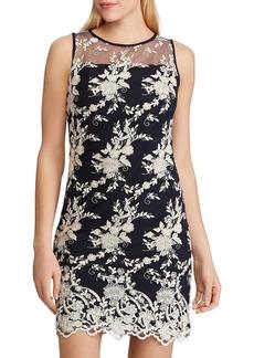 Lauren Ralph Lauren Lace-Embroidery Sheath Dress
