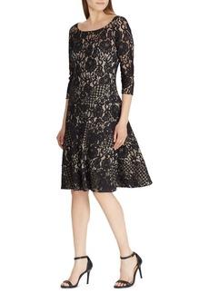 Lauren Ralph Lauren Lace Fit-&-Flare Dress