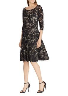 Lauren Ralph Lauren Lace Fit-and-Flare Dress