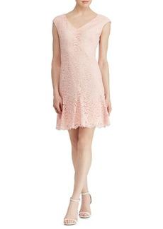 Lauren Ralph Lauren Lace Godet Dress