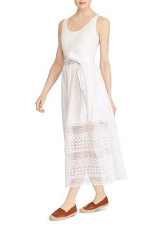 Lauren Ralph Lauren Lace-Hem Maxi Dress