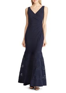 Lauren Ralph Lauren Lace-Inset Gown