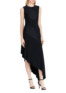 Lauren Ralph Lauren Lace-Inset Jersey Dress