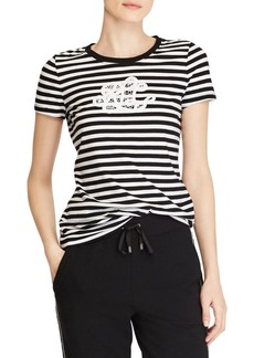 Lauren Ralph Lauren Lace Logo Cotton Tee