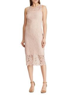 Lauren Ralph Lauren Lace Midi Dress
