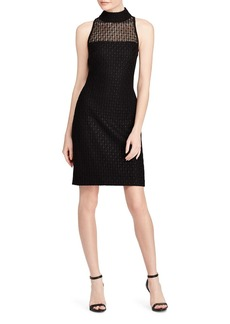 Lauren Ralph Lauren Lace Mock-Neck Dress - 100% Exclusive