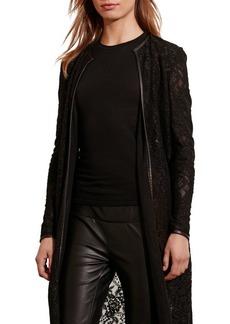 Lauren Ralph Lauren Lace Open-Front Jacket