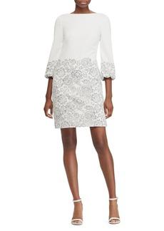 Lauren Ralph Lauren Lace-Overlay Crepe Dress