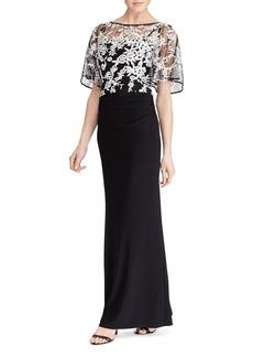 Lauren Ralph Lauren Lace Overlay Gown