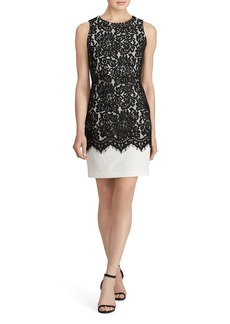 Lauren Ralph Lauren Lace Overlay Sheath Dress