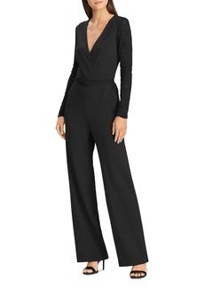 Lauren Ralph Lauren Lace-Paneled Jersey Jumpsuit