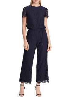 Lauren Ralph Lauren Lace Scalloped Jumpsuit