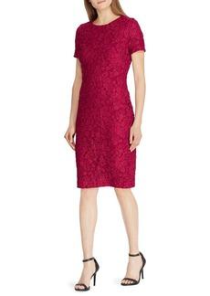 Lauren Ralph Lauren Lace Short Sleeve Sheath Dress