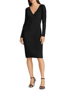 Lauren Ralph Lauren Lace-Sleeve Jersey Dress