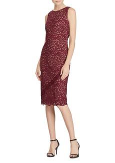 Lauren Ralph Lauren Lace Sleeveless Knee-Length Dress