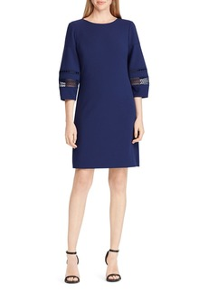 Lauren Ralph Lauren Lace-Trim Crepe Shift Dress - 100% Exclusive