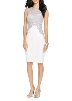 Lauren Ralph Lauren Lace Trim Dress