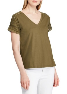 Lauren Ralph Lauren Lace-Trimmed Top
