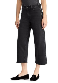 Lauren Ralph Lauren Lace-Up Cropped Flare Jean