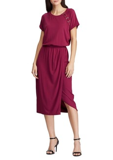 Lauren Ralph Lauren Lace-Up Jersey Dress