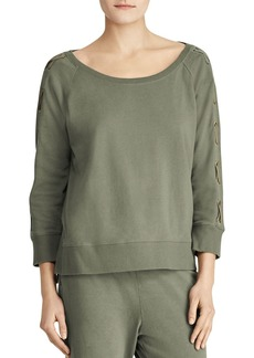 Lauren Ralph Lauren Lace-Up Raglan Sweatshirt