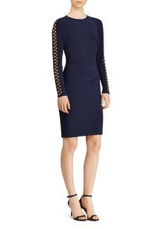 Lauren Ralph Lauren Lace-Up-Sleeve Jersey Dress