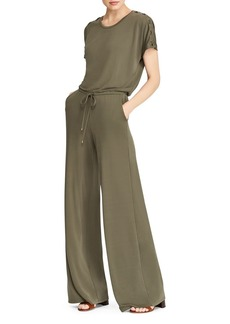 Lauren Ralph Lauren Lace-Up Wide-Leg Jumpsuit