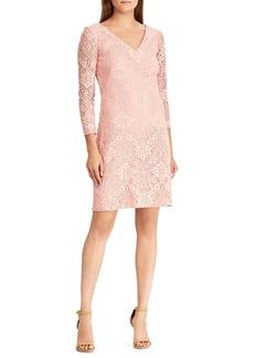Lauren Ralph Lauren Lace V-Neck Sheath Dress