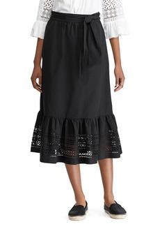 Lauren Ralph Lauren Laser-Cut A-Line Midi Skirt