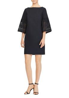 Lauren Ralph Lauren Laser-Cut Bell-Sleeve Dress