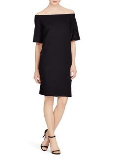 Lauren Ralph Lauren Laser-Cut Off-the-Shoulder Dress