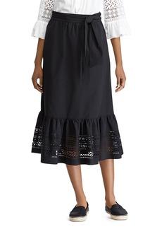 Lauren Ralph Lauren Lasercut Midi Skirt