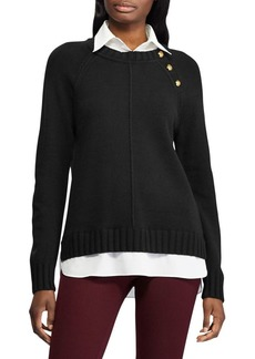 Lauren Ralph Lauren Layered Cotton-Blend Sweater
