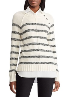 Lauren Ralph Lauren Layered Cotton-Blend Twofer Sweater
