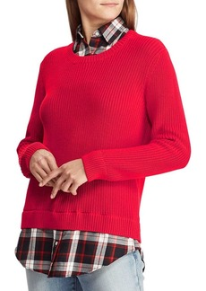 Lauren Ralph Lauren Layered Cotton Sweater