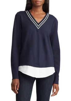 Lauren Ralph Lauren Layered Cricket Top