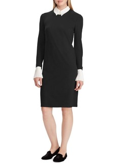 Lauren Ralph Lauren Layered Ponte Shift Dress
