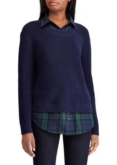 Lauren Ralph Lauren Layered Twofer Cotton Shirt