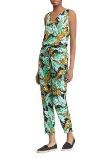 Lauren Ralph Lauren Leaf Print Jumpsuit