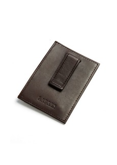Lauren Ralph Lauren Burnished Leather Card Case with Money Clip