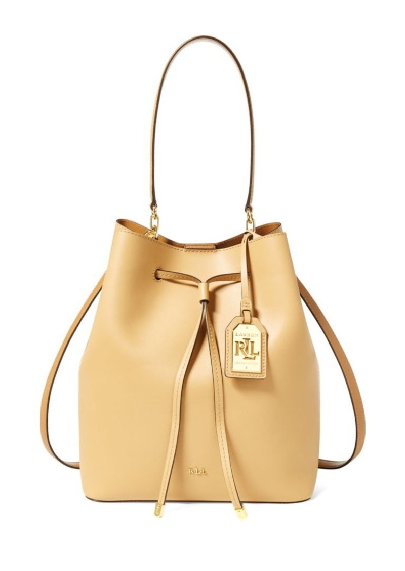 1b86e6fca9da Ralph Lauren Lauren Ralph Lauren Leather Medium Debby Drawstring Bag ...