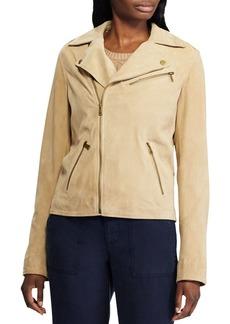 Lauren Ralph Lauren Leather Moto Jacket