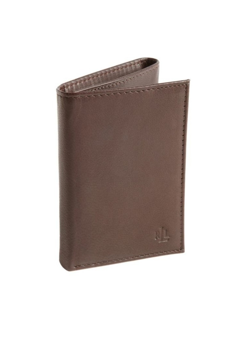 Lauren Ralph Lauren Burnished Leather Tri-Fold Wallet