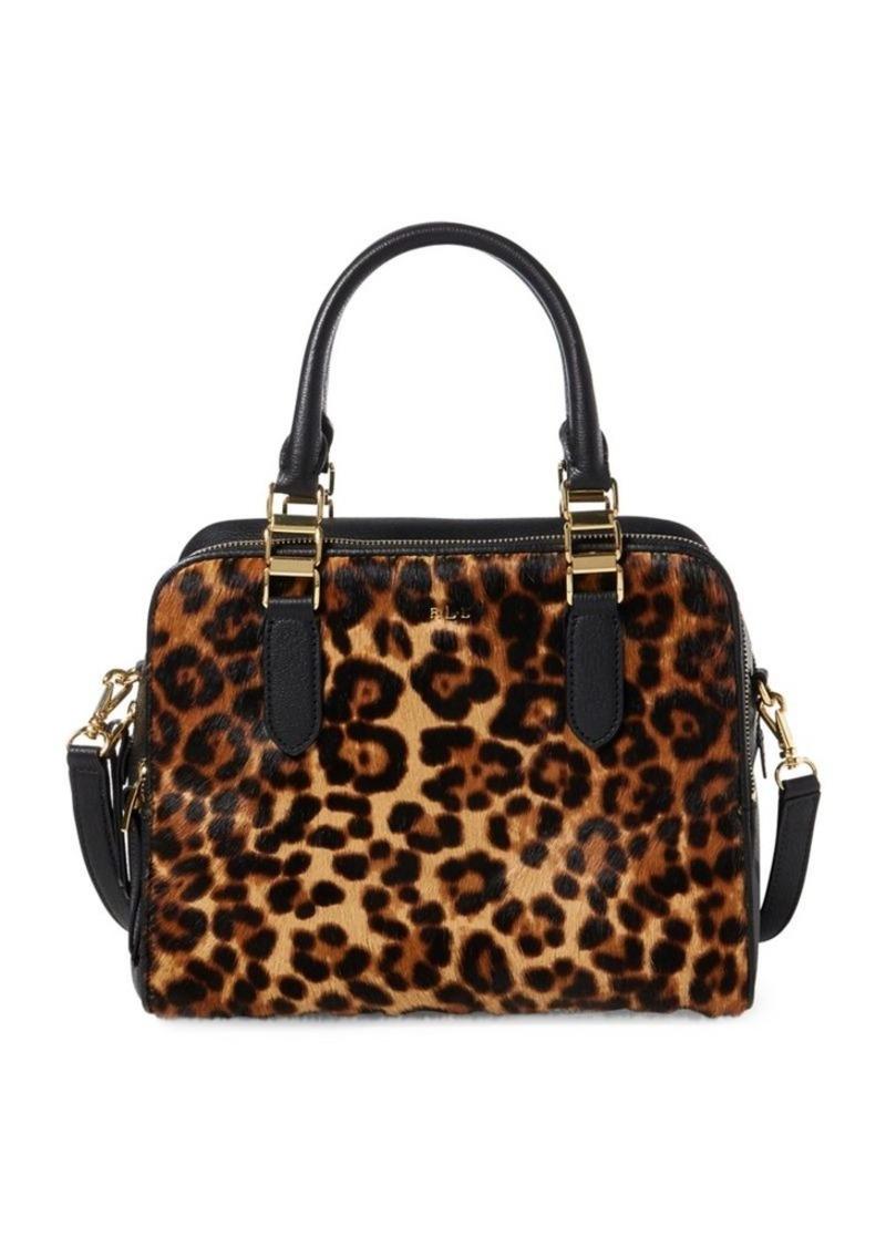 8f38a93929 Ralph Lauren Lauren Ralph Lauren Leopard Calf Hair Leather Satchel ...