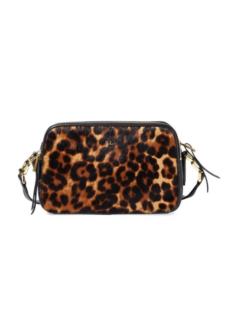 5958c86000c1 Ralph Lauren Lauren Ralph Lauren Leopard Hair Calf Leather Crossbody ...