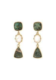 Ralph Lauren Linear Stone Drop Earrings