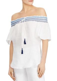 Lauren Ralph Lauren Linen Off-the-Shoulder Top